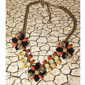 J crew statement necklace Autumn Fall colors